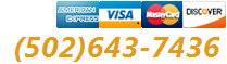 Major Credit Cards Accepted. Call us:1(502)643-7436